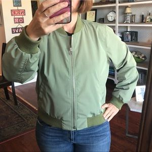 Madewell side zip bomber jacket size L